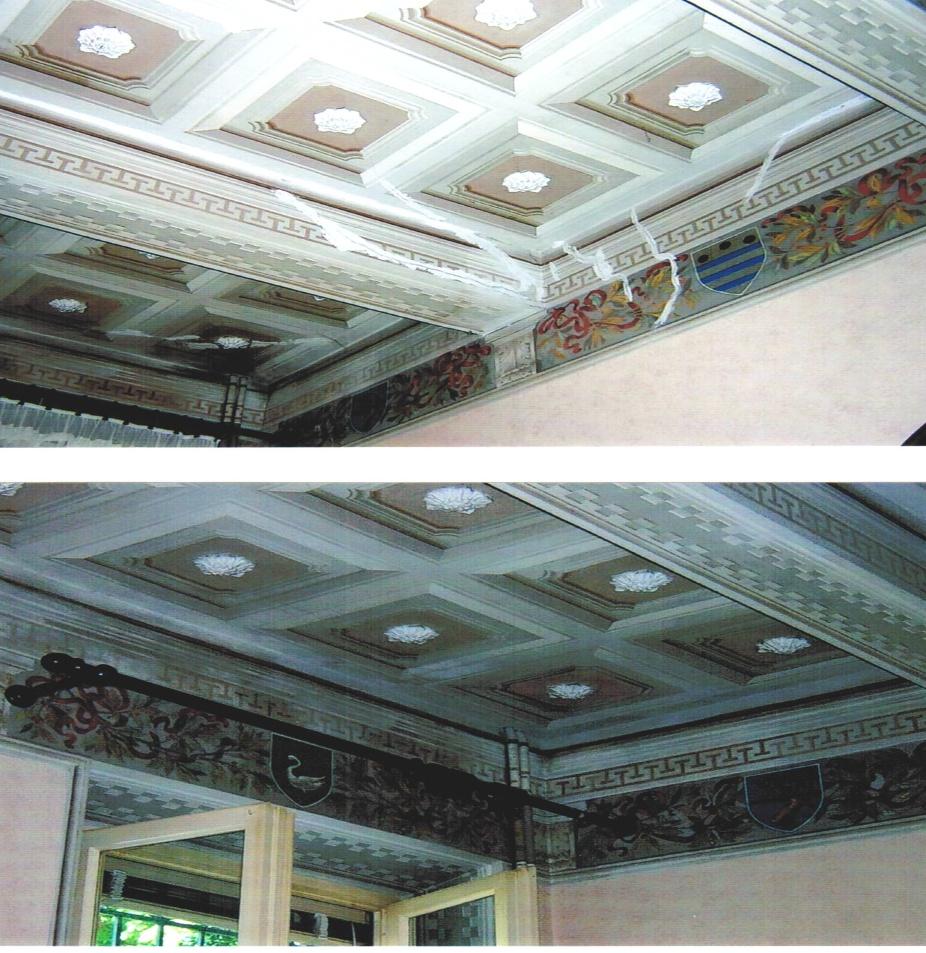 Restauro soffitto dipinto : Dipinti murali 7 elga restauro